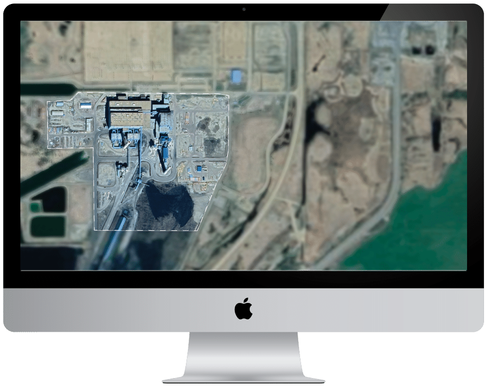 Aerial photo map overlay